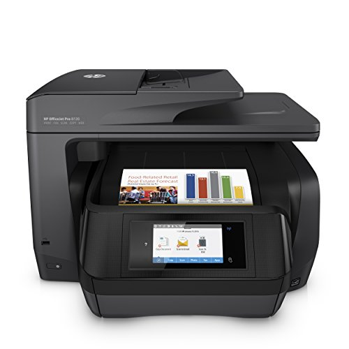 HP OfficeJet Pro 8720 All-in-One Wireless Printer with Mobile Printing, HP Instant Ink & Amazon Dash Replenishment ready (M9L74A)
