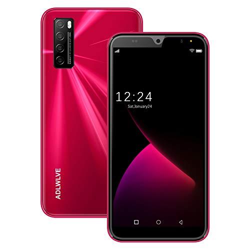 2020SmartphoneOffertadelGiorno4G,6.3polliciAndroid9.0,TelefoniCellulariinOfferta,3GBRAM+32GROM 64GBEspandibili,5MP+8MP4600mAhDualSIMQuad-CoreCellularieSmartphone (rosso)