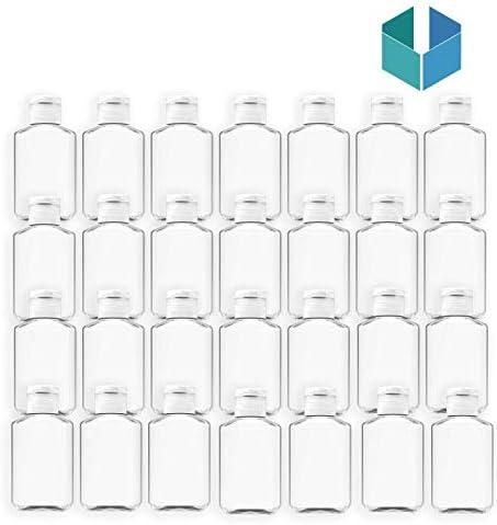 100 Pack 2 oz 60 ml Empty Clear PET Plastic Bottles Empty Bottles with Flip Top Caps Refillable product image