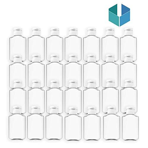 200 Pack 2 oz 60 ml Empty Clear PET Plastic Bottles Empty Bottles with Flip Top Caps, Refillable Cosmetic Bottles, Air Flight Travel Bottles for Shampoo, Liquid Body Soap,Cream, Hand Sanitizer (200)