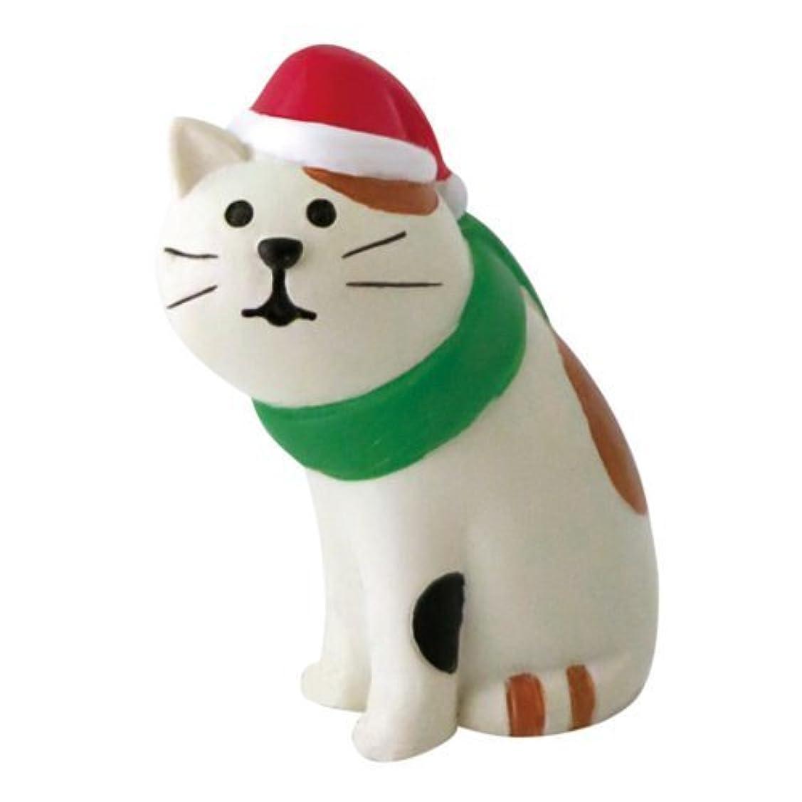 中に優勢最高【クリスマス】 デコレ まったりマスコット クリスマスの三毛猫 ZXS?26340