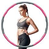 Hamazar Fitness Reifen Hoop für Erwachsene & Kinder zur Gewichtsabnahme und Massage, 6-8-Segmente Abnehmbarer für Fitness/Sport/Zuhause/Büro/Bauchformung
