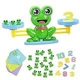 GuDoQi 64 Piezas Rana Equilibrar Juego De Matemáticas, Juego de Conteo de Herramientas de Enseñanza de Educación Temprana, Juego de Mesa Familiar para Niños Pequeños Niños a Partir de 3 años