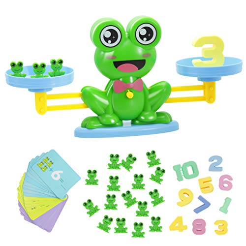 GuDoQi 64 Piezas Rana Equilibrar Juego De Matemáticas