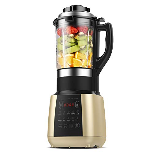 Elektrische Blender, krachtige motor van 800 W voor de Fruit Smoothie Ice Sojamelk Hot Soup Frozen Desserts Crush Thuis Commercial, Auto-Clean-functie, BPA-vrij, met 13 programma's,Gold
