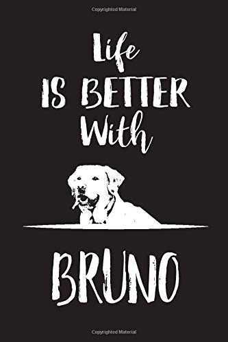 """Life Is Better With Bruno: Blank Dotted Notebook Journal To Write In, 6 x 9\"""", 120 pages 