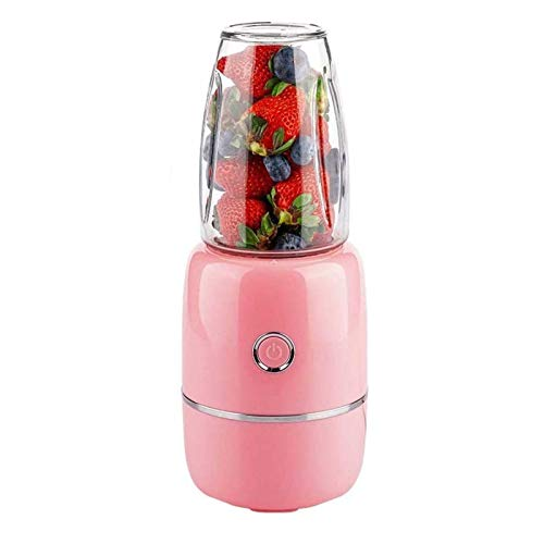 Adesign Portable Blender, Personal Size Electric Juicer Cup,Fruit Mixer Machine for Home&Travel, Rechargeable Juicer Bottle for Juice, Smoothie and Milkshake (Color : Pink)