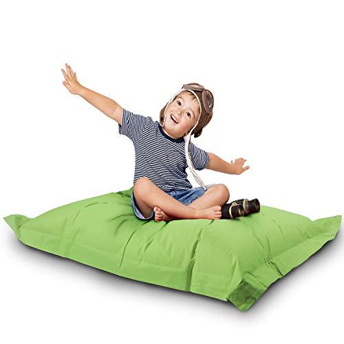 Lazy Bag Original Indoor & Outdoor Sitzsack XL 250 Liter Riesensitzsack Junior-Sitzkissen Sessel für Kinder & Erwachsene 160x120 (Grün)