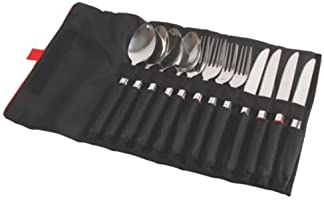 Coleman 2000025208 Rugged 12 Piece Stainless Steel Utensil Set, Silver/Black