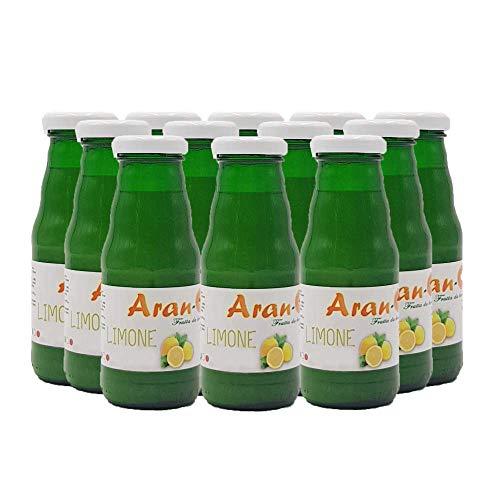 Nettare di Limone, Spremuta Succo di Limone Calabrese, Nettare di Limone Bevanda Senza Coloranti Senza Conservanti (12 bottiglie 200 ml)