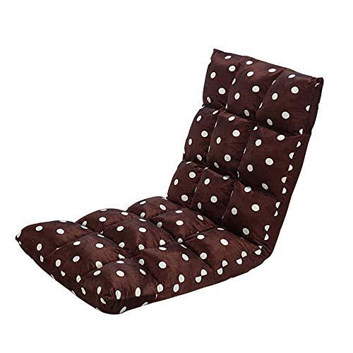 LXH-SH Faules Sofa Facile À Transporter Ou À Stocker Chaise PLIANTE Tatami Jeu Vidéo Méditation Étage Chaise Coton Pliable Épaississement Faule Sofa (Farbe: Braun, Größe: 110 * 52 * 13cm) Slow-Sofa.