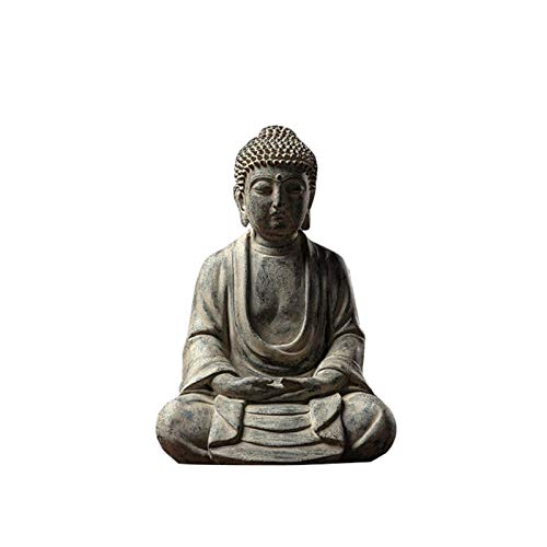 Buda decoracion,Estatua Buda Sentado,Resina Sintética,shakyamuni buda para jardín o salón,