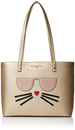 Karl Lagerfeld Paris Maybelle Tote, Pale Gold