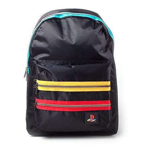 Playstation Retro Logo Backpack Rucksack 41 Centimeters 20 Schwarz (Black)