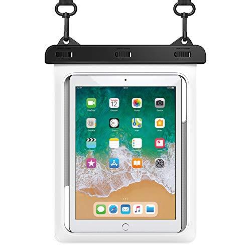 HeySplash wasserdichte Hülle, Durchsichtig Unterwasser Tablet Tasche Beutel mit Lanyard Kompatibel mit iPad Mini 2019/4/3/2, Samsung Galaxy Tab E, Tab S3, Fire HD 8, Fire 7, bis zu 10