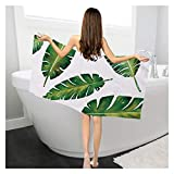 WNFYES Toallas de baño Toalla de baño de Plantas Tropicales Toalla de baño Rectangular Creativo Estampado de Sol Protector...