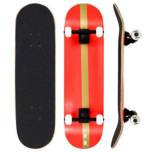 skateboard 68 cm ISE Skateboard Complete Strati di Acero 79x20 Cm con Cuscinetti ABEC-7
