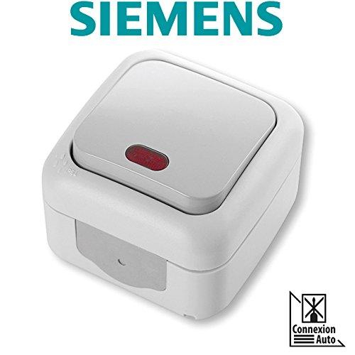 SIEMENS Ingenuity for life - Interruptor Conmutador Estanco Gris con Testigo