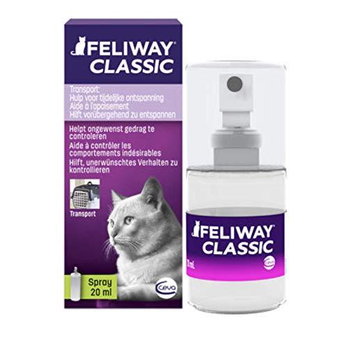 FELIWAY Classic - Antiestrés para gatos - Transportín, Viajes - Spray 20 ml