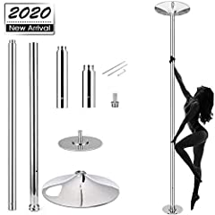"""【Spinning & Static Modes】You can chose 2 modes """"spinning/static""""for dancing needs. Spinning mode makes pole rotate 360º smoothly and freely. Static mode sets the dance pole to stand well and won't make noise. 【Height Adjustable】From 3.7ft to 9ft, the..."""