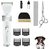 IAIPET Dog Clippers Pet Grooming Kit Quiet Cordless Dog Grooming Clippers Rechargeable with 2-Speed Low Noise Heavy Duty Hair Clippers Set for Dogs Cats with Spare Clipper Blade