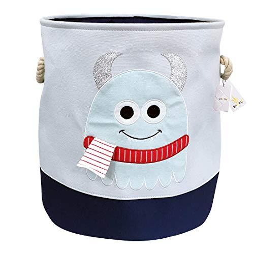 Znvmi Wäschekörbe Kinder Spielzeug Organizer Faltbare Groß Lagerung Aufbewahrungskorb Baby Wäschesammler Wäschesack - Tier/Blau