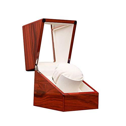 FGVBC Caja enrolladora de Reloj, Exterior de Pintura de Piano con Carcasa de Madera, Almohadas Blandas para Relojes, Estuche Giratorio para Guardar Relojes, marrón Happy Life