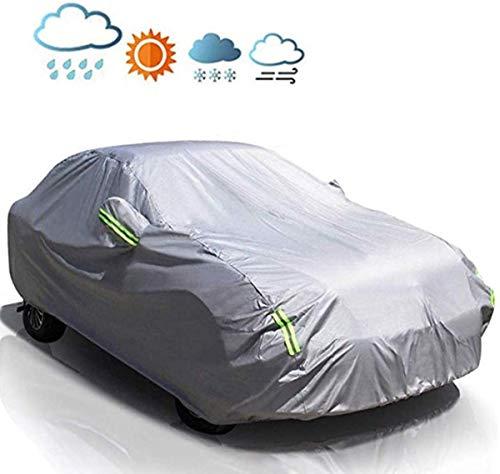 MATCC Copriauto Telo Copriauto Auto Impermeabile Pieghevole Anti UV Anti Pioggia Sole Aggiornamento 210T(440 X 180 X 160cm)