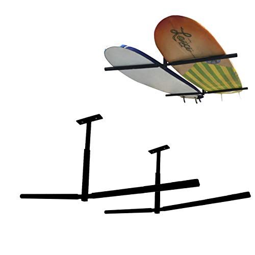 EasyGoProducts EGP-SURF-007 EasyGO SUP Rack Surfboard Overhead Ceiling Mount-for Garage or Room-Paddle Board and Longboard Double Sided