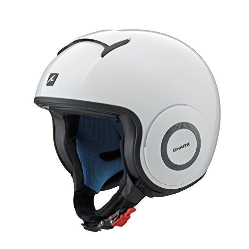 Y'S GEAR SHARK(シャーク) 【正規輸入品】 バイクヘルメット ジェット ダラク(DRAK) ブランク ホワイト XL...