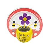 binyu Cute Solar Power Flip Flap Flower Insect for Car Decoration Swing Dancing Flower Eco/Friendly Bobblehead Solar Dancing Flowers in Colorful Pots/Six Styles are Available