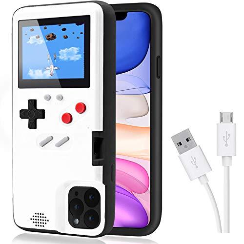 Estuche Game para iPhone,Dikkar Estuche Autoamplificado con Cubierta Protectora Retro con 36 Juegos Pequeños, Pantalla a Todo Color, Estuche para Videojuegos para iPhone X/Xs/MAX/Xr/6/7/8 Plus/11