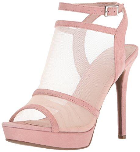 GUESS Women's AFRA Heeled Sandal, Light Pink, 8.5 Medium US