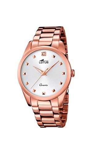 Lotus 18144/1 - Reloj para Mujer (Cuarzo, analógico, Correa de Acero Inoxidable, Chapado en Oro Rosado)