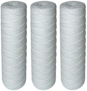 ECO HOME™ Lot de 3 Cartouches Filtrantes Bobinées pour Filtre à Eau – Filtration des Sédiments jusqu'à 25 microns – Format...
