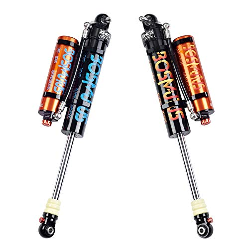 "2pcs Bosmutus Shock Lift,2.5 Performance Rear Shock Left/Right DSC Adjuster 2/4Door J-eep Wrangler JK JKU Unlimited Sport Sahara Rubicon 4WD/Replacement Shocks 0-2.5""Lift Kit(7#aviation aluminum)"