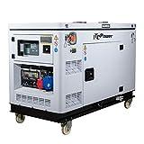 ITCPOWER IT-DG12000XSET, Generador Eléctrico Diesel (Full Power), Blanco