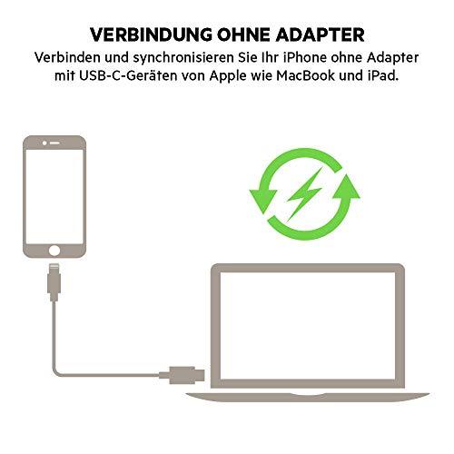 Belkin Boost Charge USB-C-Kabel mit Lightning Connector (MFi-zertifiziertes Kabel für iPhone, MacBook, iPad, USB-C-/Lightning-Kabel zum Schnellladen,1,2m) weiß