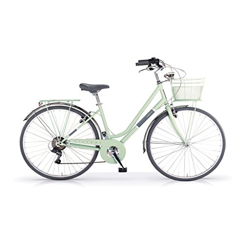 MBM Silvery, Bicicletta Donna, Verde (Menta A13), 28'