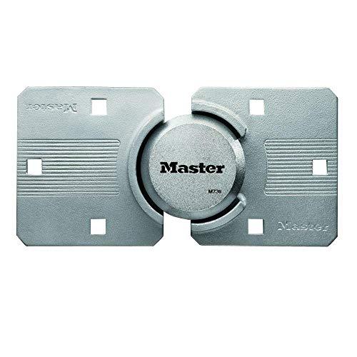 Master Lock M736XKAD Magnum Heavy Duty Solid Steel Hidden Shackle Padlock with Key, High Security Hasp