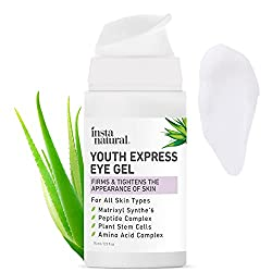 Image of Eye Gel Cream - Wrinkle, Dark Circle, Fine Line & Redness Reducer - Pure & Organic Anti Aging Blend for Men & Women with Hyaluronic Acid - Fight Bags & Lift Skin - InstaNatural - 0.5 oz Travel Size: Bestviewsreviews