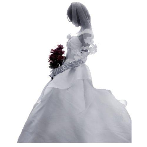 『【コスプレ】 ミカサ・アッカーマン ホワイトドレス コスプレ ドレス+ブーケ7点セット M 女性』のトップ画像