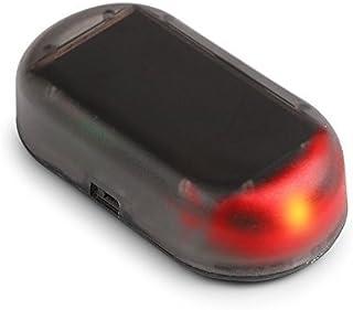車のソーラーアラームLEDライトシミュレートされた模倣の警告アンチ盗難点滅点滅ランプ赤