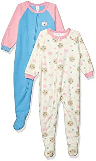 Image of 2 Pack Gerber Fleece Princess Bear Sleepers for Toddler Girls - See More Designs