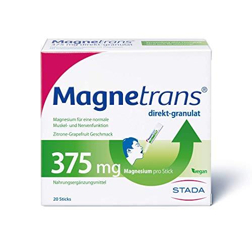 Magnetrans direkt-granulat 375 mg - Magnesiumgranulat zur Einnahme ohne Flüssigkeit - Magnesium für eine normale Muskel- und Nervenfunktion - 1 x 20 Sticks