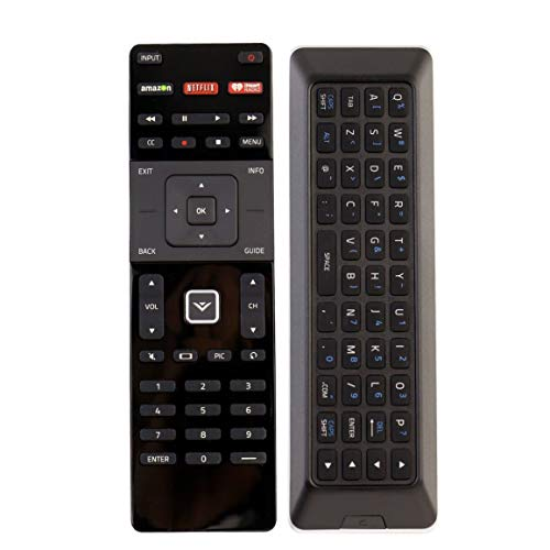 NEW Qwerty Dual Side Remote XRT500 with Backlight fit for 2015 2016 VIZIO Smart app internet tv (Renewed)