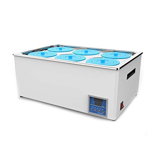 SATSAT 1200W Digitales Thermostat-Laborwasserbad, 6-Loch-Digitalanzeige Elektrische Heizung Thermostatisches Wasserbad Laborgerät, RT bis 100 ° C, Inkremente von 0,1 ° C, Zeitsteuerungsfunktion