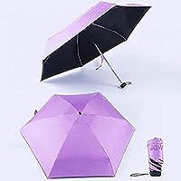傘日焼け止めミニポケット傘は防雨5折りたたみサンブラックを防ぎます