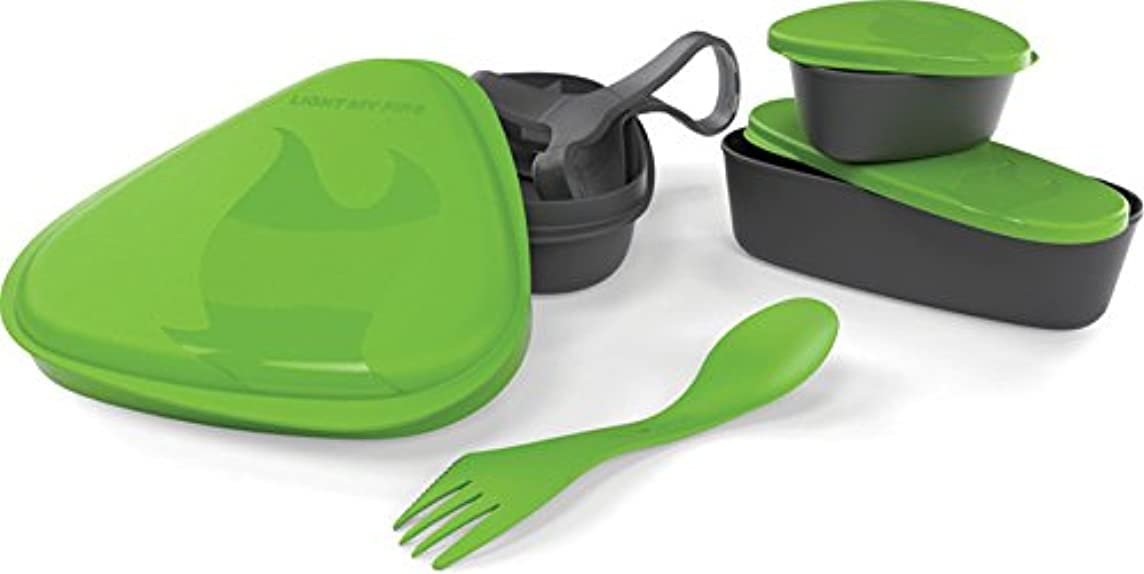 Light My Fire 6-Piece BPA-Free Lunch Kit with Plate, Bowl, Storage Boxes and Spork