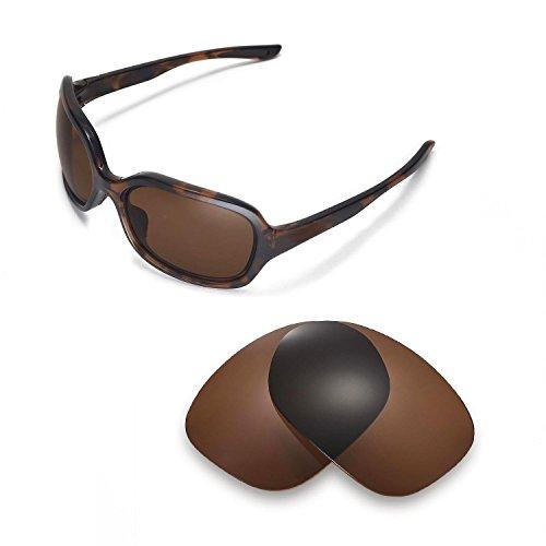 Walleva Ersatzgläser für Oakley Pulse Sonnenbrille- Mehrfache Optionen (Braun - polarisiert)